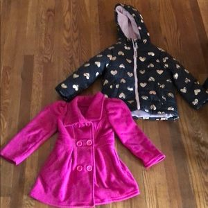 Two 5/6 girls coats carters